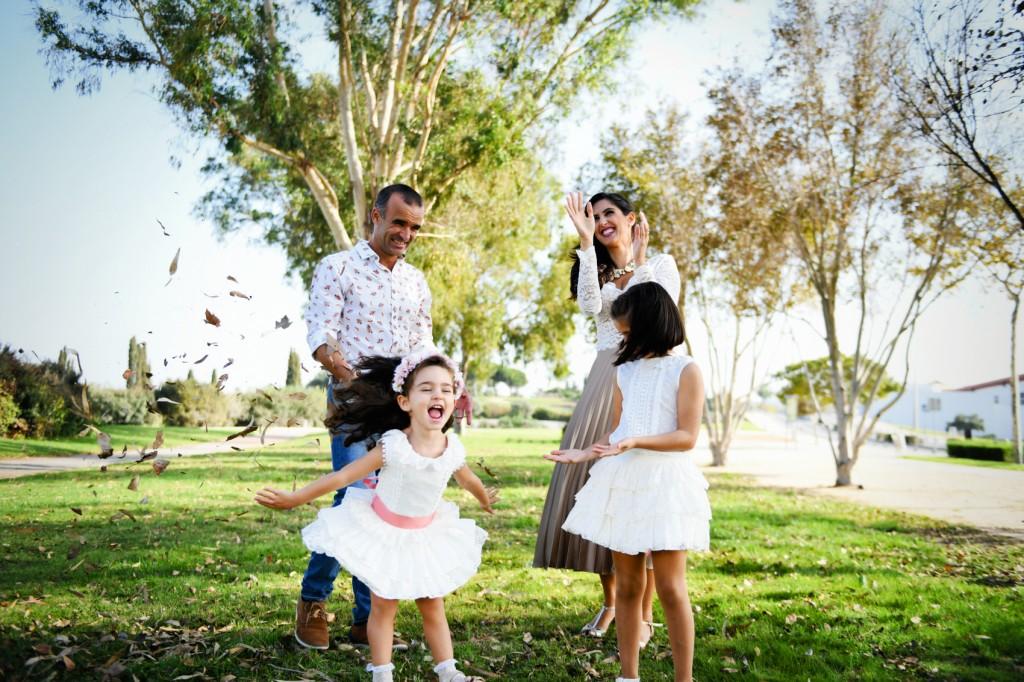 Sesión Familiar Eva y Alfredo con Adriana&Clara